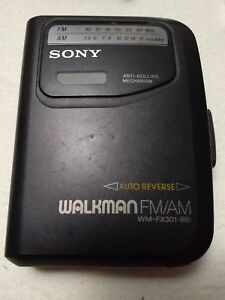 301 Auto Parts >> Details About Sony Walkman Wm Fx 301 Auto Reverse Cassette Player And Am Fm Radio For Parts