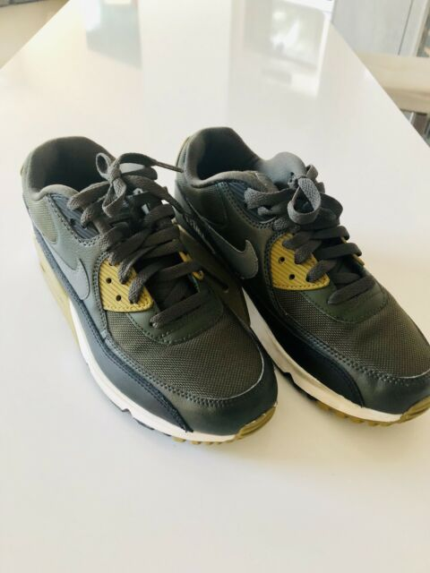Perfect Nike Air Max 90 Essential Black Army Green Women's Men's Running Shoes Trainers