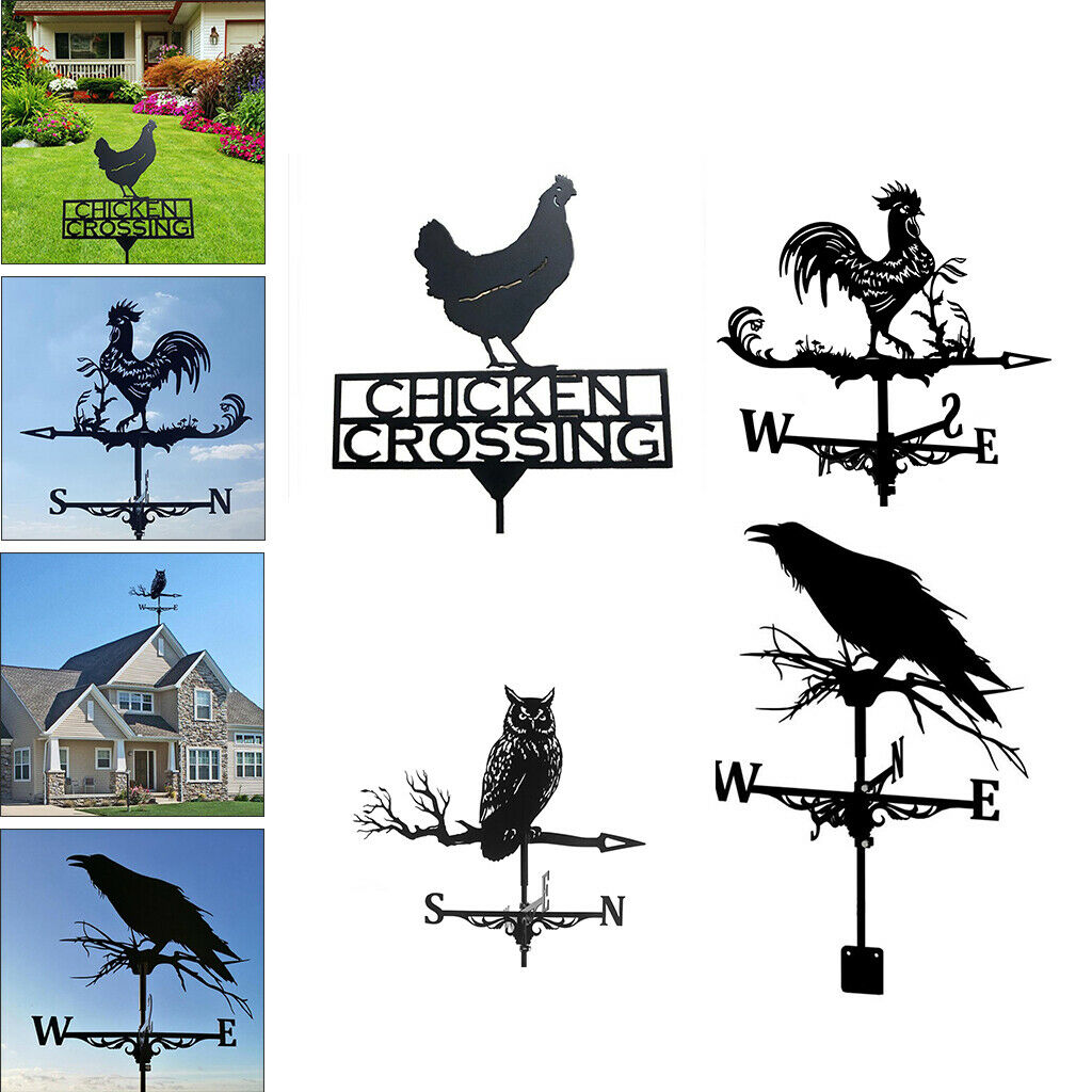 Durable Stainless Weather Vane Practical Outdoor Garden Crafts Easy Use