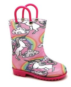 Storm-Kidz-Rain-Boots-Girls-UNICORN-Print-Toddler-to-Big-Kid-NEW
