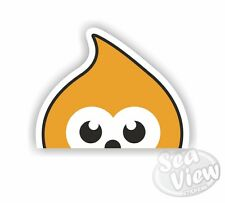 ZINGY EDF Energy Advert Dancing Cartoon Character Blob Car Window Sticker
