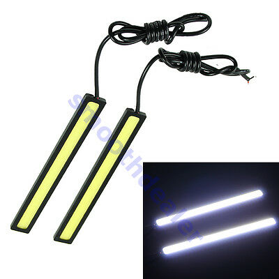 2x Waterproof Super Bright COB White Car LED Lights 12V for DRL Fog Driving Lamp