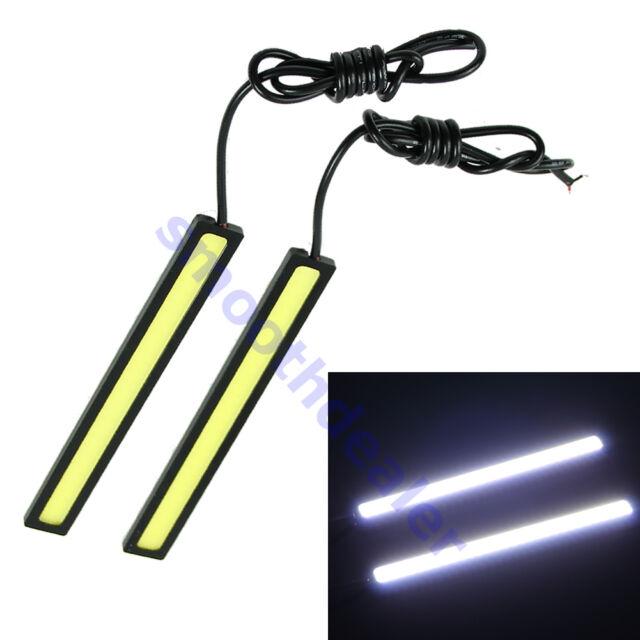 2pcs 12V LED COB Car Auto DRL Driving Daytime Running Lamp Fog Light White 17cm