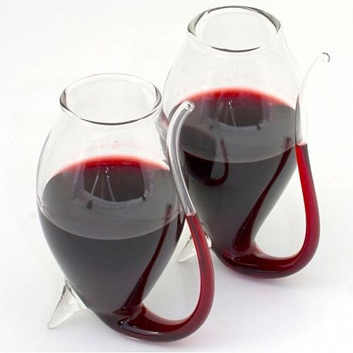 Vinology Collection - PORT SIPPER GLASSES - Sipping Straw Handblown - Set of 2
