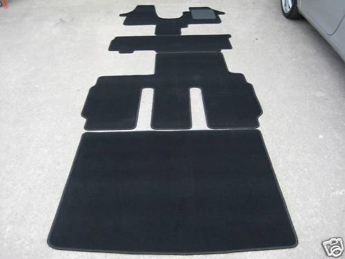 Car Mat to fit VW Transporter T5 Shuttle Van LWB Black 8 Seater