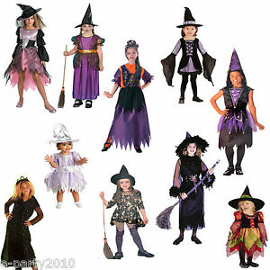 Assorted-WITCH-HALLOWEEN-COSTUMES-Girl-Child-Teen-Toddler-Party-Supplies-Dress