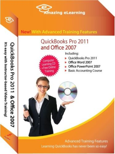 Learn QuickBooks Pro//Premier 2011 Tutorial Training CD Bundle with Office 2007