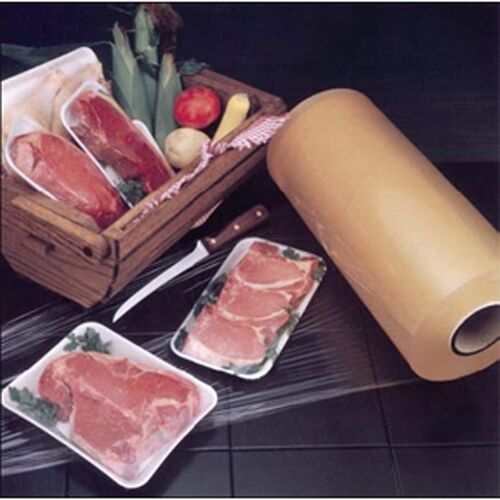"Elite RMF-ELITE Series Dual Layer Stretch Meat Film Clear 5000/' L x 15/"" W x 50ga"