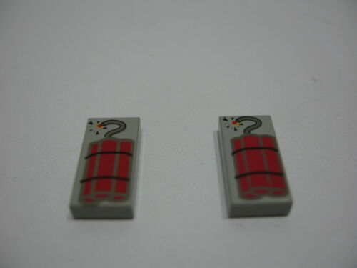 Accessories 2 x Tile 1 x 2 with Dynamite Pattern LEGO LEGO Bausteine & Bauzubehör