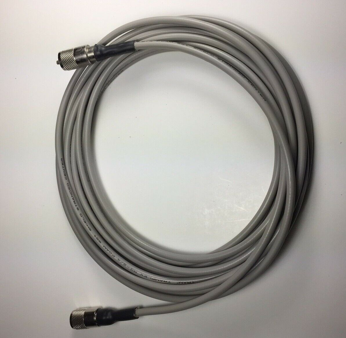 RG-8X COAX CABLE JUMPER 18 FT SEALED PL-259s USA MADE PROFESSIONAL CB HAM RADIO. Available Now for 1975.00