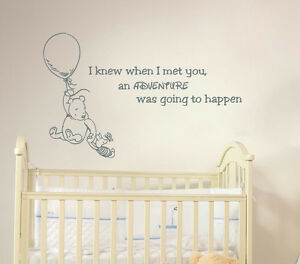 Image Is Loading Winnie The Pooh Quote Wall Decal Vinyl Sticker