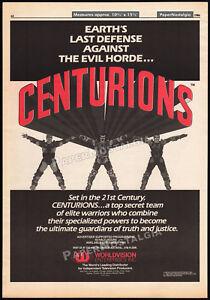 CENTURIONS-Original-1986-Trade-print-AD-poster-animated-TV-series-promo