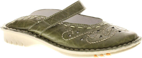 Green crushed Leather New in Box Spring Step Women/'s Growth Clogs