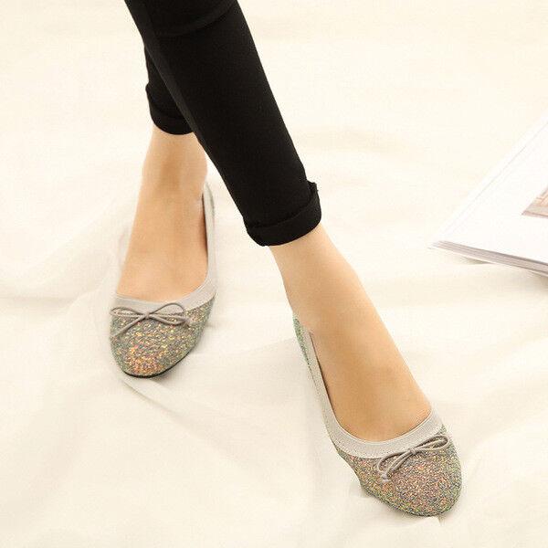 Ballerines mocassins chaussures strass élégant beige comme cuir 2.5 cm