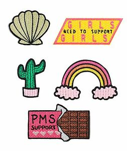 Embroidered Patch Pack Set Iron On Gift Cute Tumblr