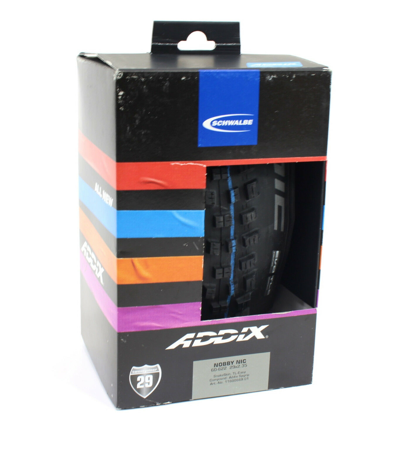 Schwalbe Nobby Nic TL SnakeSkin Neumático, 29x2.35 EVO Easy Plegable, Addix Speedgrip