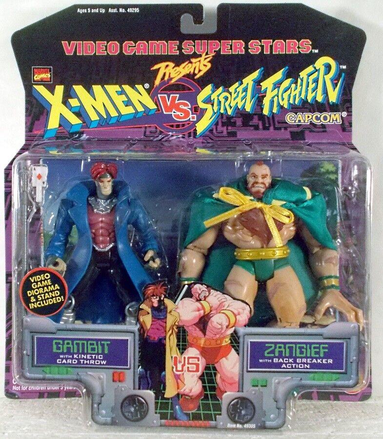 Toy Biz Marvel Capcom X-Men vs. Street Fighter Gambit vs. Zangief (MOC)