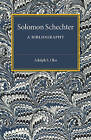 Solomon Schechter: A Bibliography by Adolph S. Oko (Paperback, 2015)