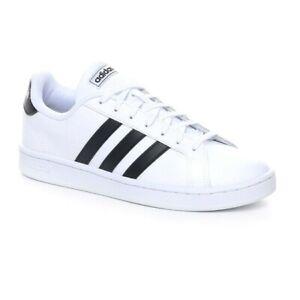 Scarpe Uomo Adidas Grand Court Bianche Sneaker Basse Casual Pelle Vintage