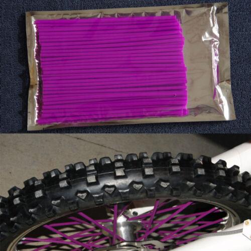 Purple 72Pcs spoke shrouds wheel covers wraps for CRF50 CRF110F CRF125F CRF150R
