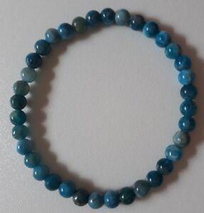 BRACELET-PIERRES-POLIES-APATITE-BLEU-CLAIR-lithotherapie-perles-boules-AA-6mm-BC