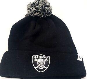 29e56f9970cf4d NEW! 47 Brand NFL Oakland Raiders Knit Cuffed POM Breakaway Beanie ...
