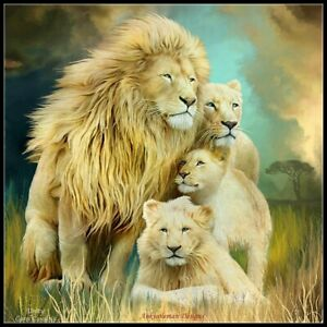 Counted Cross Stitch Patterns Lion Family 2 Color Symbols Charts