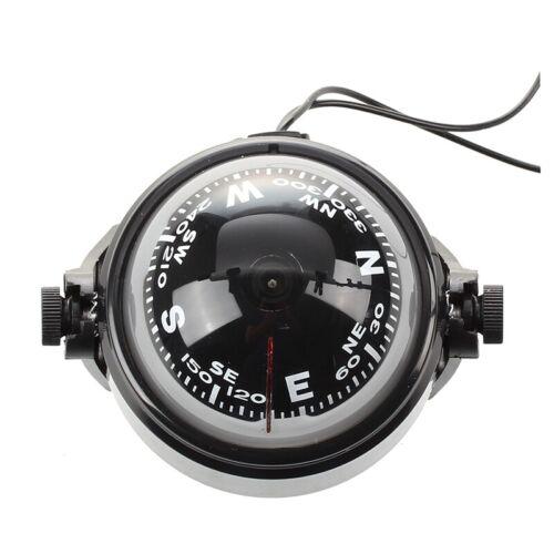 Kompass Kugelkompass Compass Bootskompass Schwarz KFZ Navigation mit L7T3