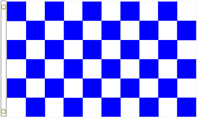 Choice of Sizes Royal Blue /& White Check Polyester Flag