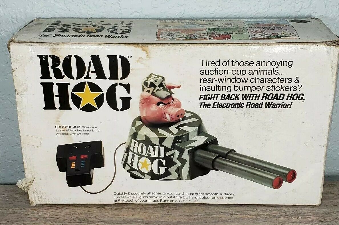 Vintage 1990 Power Products Road Hog Operating Tank Battery Operated Toy