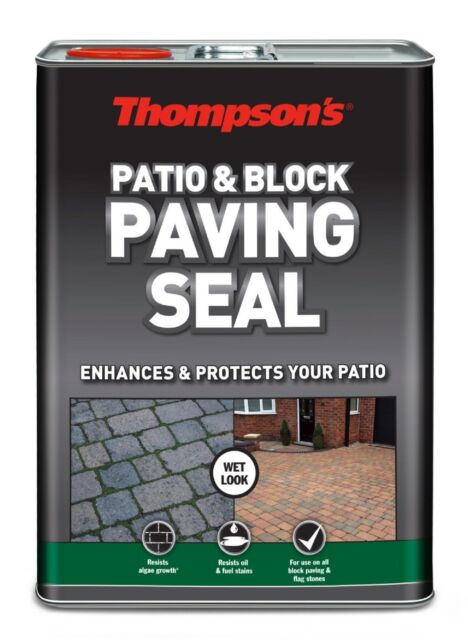 Thompson's Wet Look Finish Sealer Patio and Block Paving Seal Protector 5 Litre