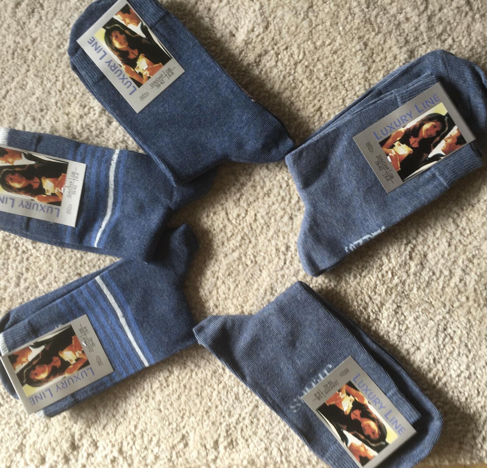20 Paar Damensocken jeans blau 75% Baumwolle 39-42
