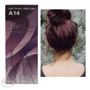 Berina Hair Dye Color Cream No. A14 Dark Brown Violet ...