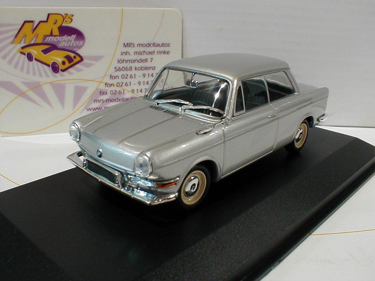 Minichamps 940023700 BMW 700 LS Baujahr Baujahr Baujahr 1960 in   silver-metallic   1 43 NEU 5e8fd7