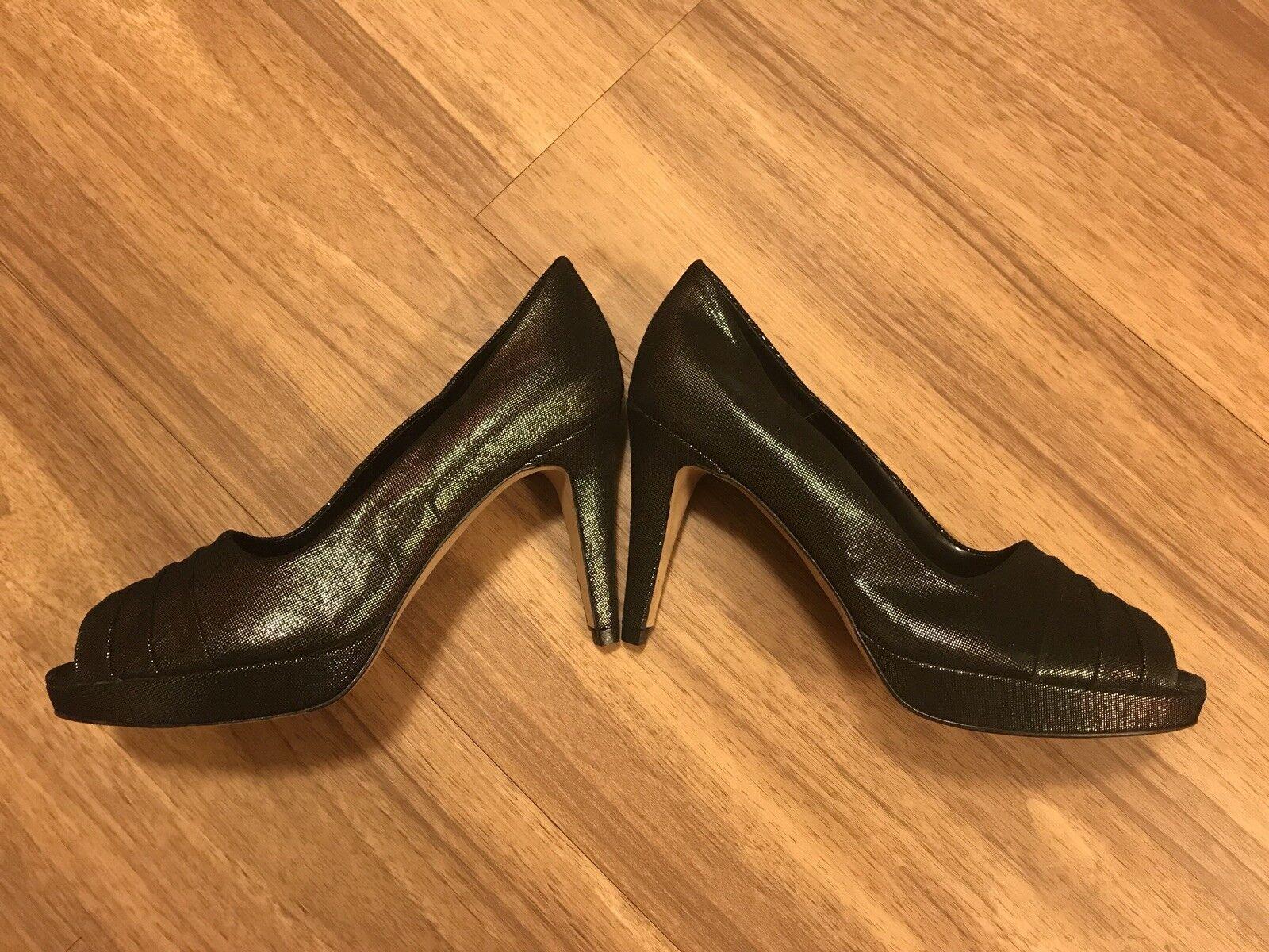 Nordstrom Made In  Vaneli Brand Name Name Name Leather Peep Toe Pumps Heels schuhe 6M e1e064