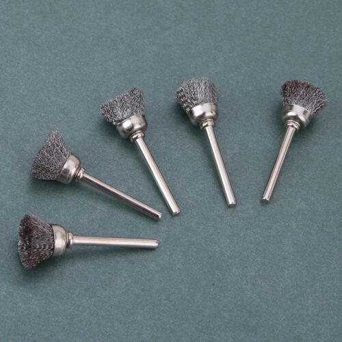 10 Pcs//pack Mini Wire Brush Brushes Brass Cup Wheel for Grinder or Drill Set