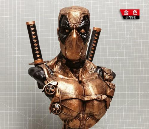 Super Hero Deadpool Bust Resin Statue Recast New 13inch high 4colors 1//3 Scale