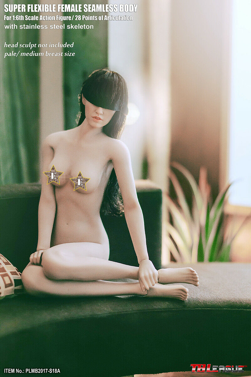 TBLeague Phicen Super-Flexible Female Seamless Medium Breast Body in Pale S18A