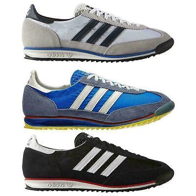 adidas ORIGINALS MEN'S SL 72 VINTAGE TRAINERS BLACK BLUE WHITE SNEAKERS SHOES | eBay