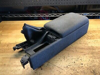 90-96 Yellow Stitch Z32 Center Console Armrest Real Leather Fits Nissan 300ZX