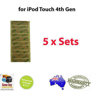 5x-3M-iPod-Touch-4th-Gen-ADHESIVE-STRIP-Replacement-Screen-Digitizer-Bezel-Frame