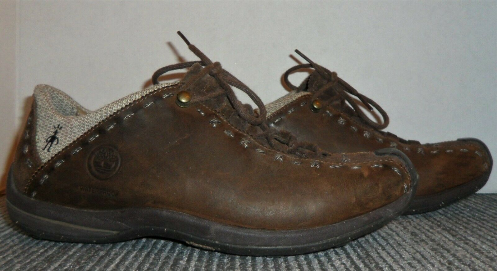 BARELY WORN TIMBERLAND SMARTWOOL LEATHER HIKING OXFORDS WOMEN'S SIZE 8.5 M!