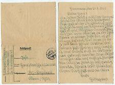 13245 - Feldpostbrief - stummer Stempel 24.8.1941 - Lazarett Düren Rheinland