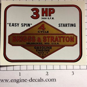 Briggs-amp-Stratton-3-hp-Shroud-Decal-Vinyl-Easy-Apply-60s-amp-70s