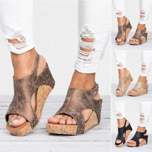 Moderno-Mujer-Verano-Oficina-Chanclas-Sandalias-Mocasines-Cuna-Zapatos-de-Tacon