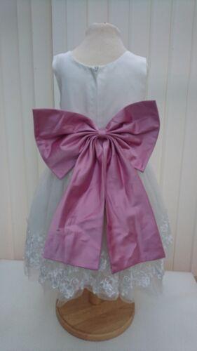 New Bridal Wedding Bridesmaids Flower girl Dress Plain Satin Bow and Sash