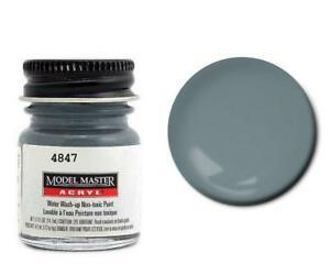 Testors 4847 Acryl 1 2oz Us Navy Blue Gray An00485 Flat Acrylic Model Master