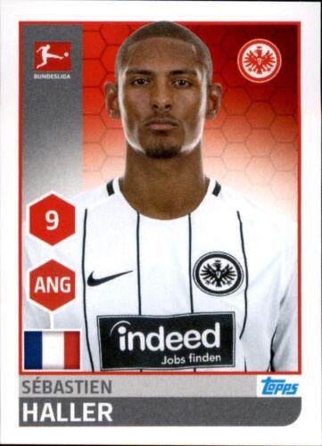 TOPPS Bundesliga 2017/2018 Sebastien Haller Sticker 78