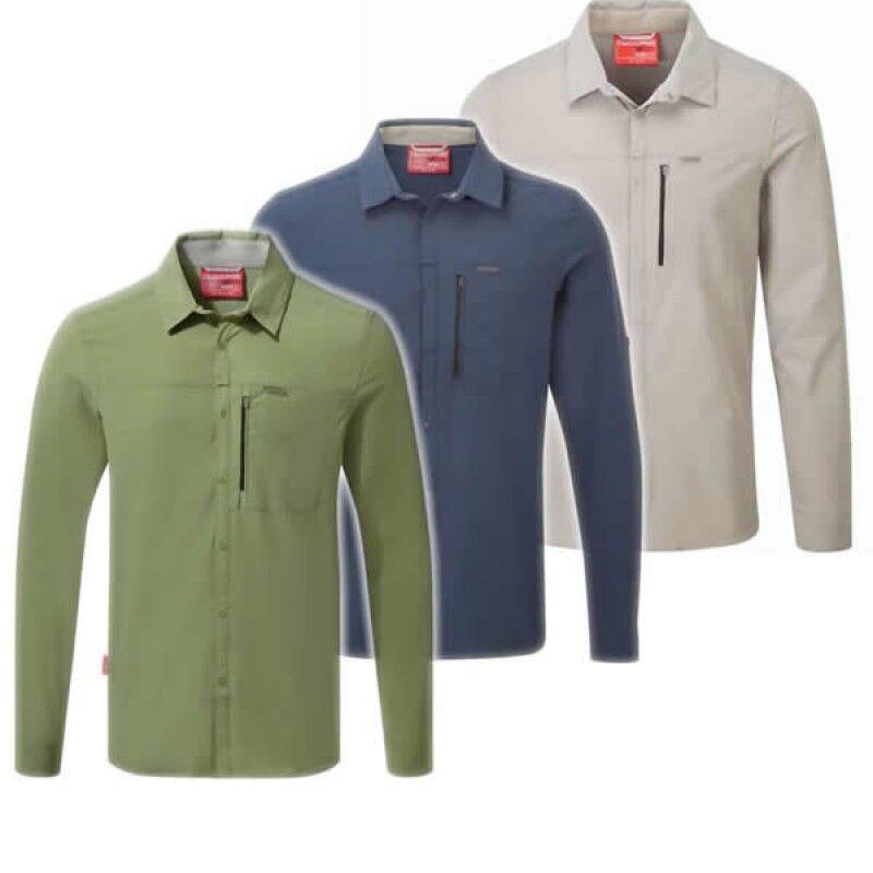 Craghoppers Nosi PRO LS Shirt Uomo insetti e protezione solare UVP 89,95 -50%