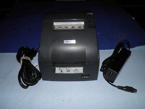 Epson-TM-U220D-M188D-Dot-Matrix-POS-Receipt-Printer-Serial-w-Power-Supply